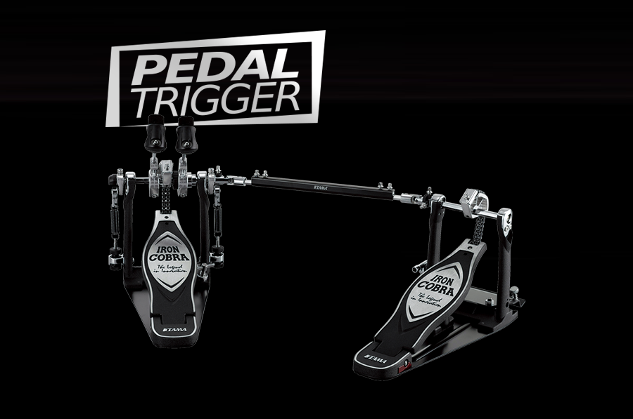 Pedaltrigger® – TAMA Iron Cobra Left-Footed Power Glide Twin Pedal HP900PWLN